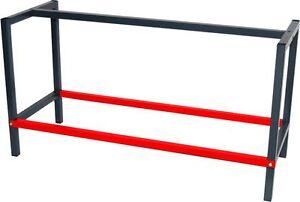 werkbank arbeitstisch werktisch packtisch tischgestell gestell metall anthrazit ebay. Black Bedroom Furniture Sets. Home Design Ideas