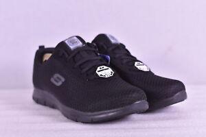 Women's Skechers Ghenter - Bronaugh Memory Foam Work Sneakers, Black, 10W