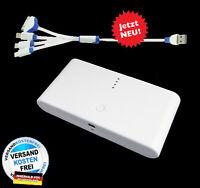 TheQ Power Bank PB01w externe Akku 20000mAh USB Ladegerät Universal iPhone Weiß