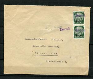 Elsaß Notstempel - Dornach  auf Nr. 4 Mef  (DK)