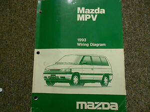 1993 Mazda MPV Van Electrical Service Repair Shop Manual ...