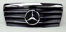 Mercedes E Class W124 94-95 4 Fin Front Hood Sport Black Chrome Grill Grille