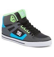 Dc Shoes Spartan High Wc Grey Green Blue 302523 Xsgb Mens Uk Sizes 8 - 10.5