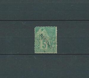 REUNION-1891-YT-20-5-c-vert-TIMBRE-OBL-USED