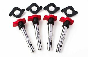 Set-of-4-Audi-R8-Ignition-Coil-Packs-w-Spacers-for-1-8T-06E905115G-TT-Golf-S3