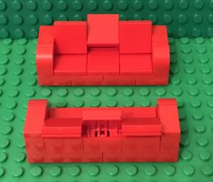 Terrific Details About Lego X2 New Red Sofa Couches Recliners Love Seats Moc Home Interior Furniture Squirreltailoven Fun Painted Chair Ideas Images Squirreltailovenorg