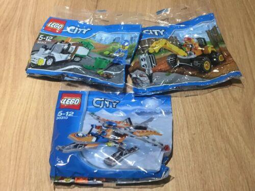 30313 30312 Poly Promo Bag New Sealed Dust Cart Plane Digg LEGO City 30310