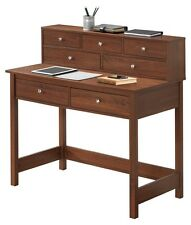 Writing Desk With Hutch For Small Spaces Storage Shelf Hall Table Wood Student
