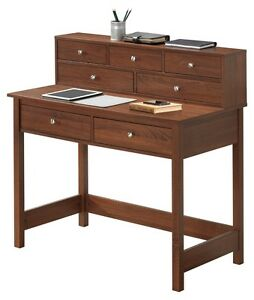 writing desk with hutch for small spaces storage shelf hall table wood student 645497435166 ebay. Black Bedroom Furniture Sets. Home Design Ideas