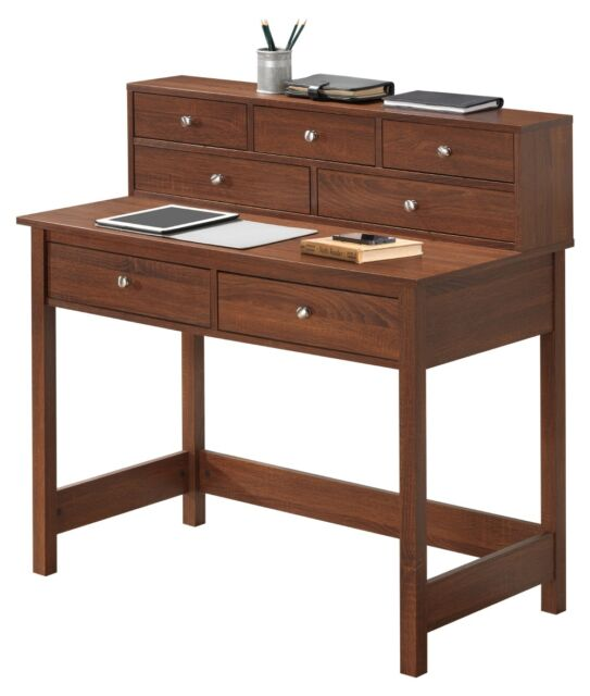 Writing Desk With Hutch For Small Es Storage Shelf Hall Table Wood Student