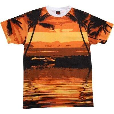 Analytical Undrcrwn Sunset Strip Men's Black Orange T Shirt 09010blk Activewear Tops