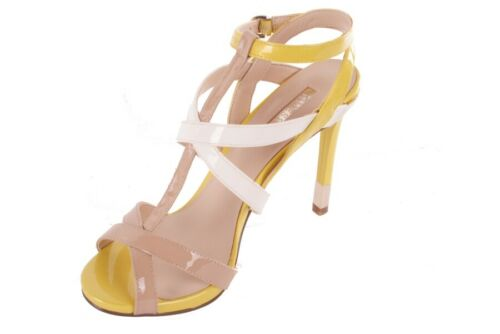 Details about  /Guess Ladies Strappy Pumps Beige//Yellow