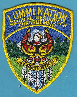 LUMMI NATION NATURAL RESOURCES  WASHINGTON TRIBAL POLICE SHOULDER PATCH
