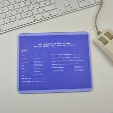 C64 Commodore Shortcuts Deutsch Mousepad Mauspad tapis de souris Apple Windows