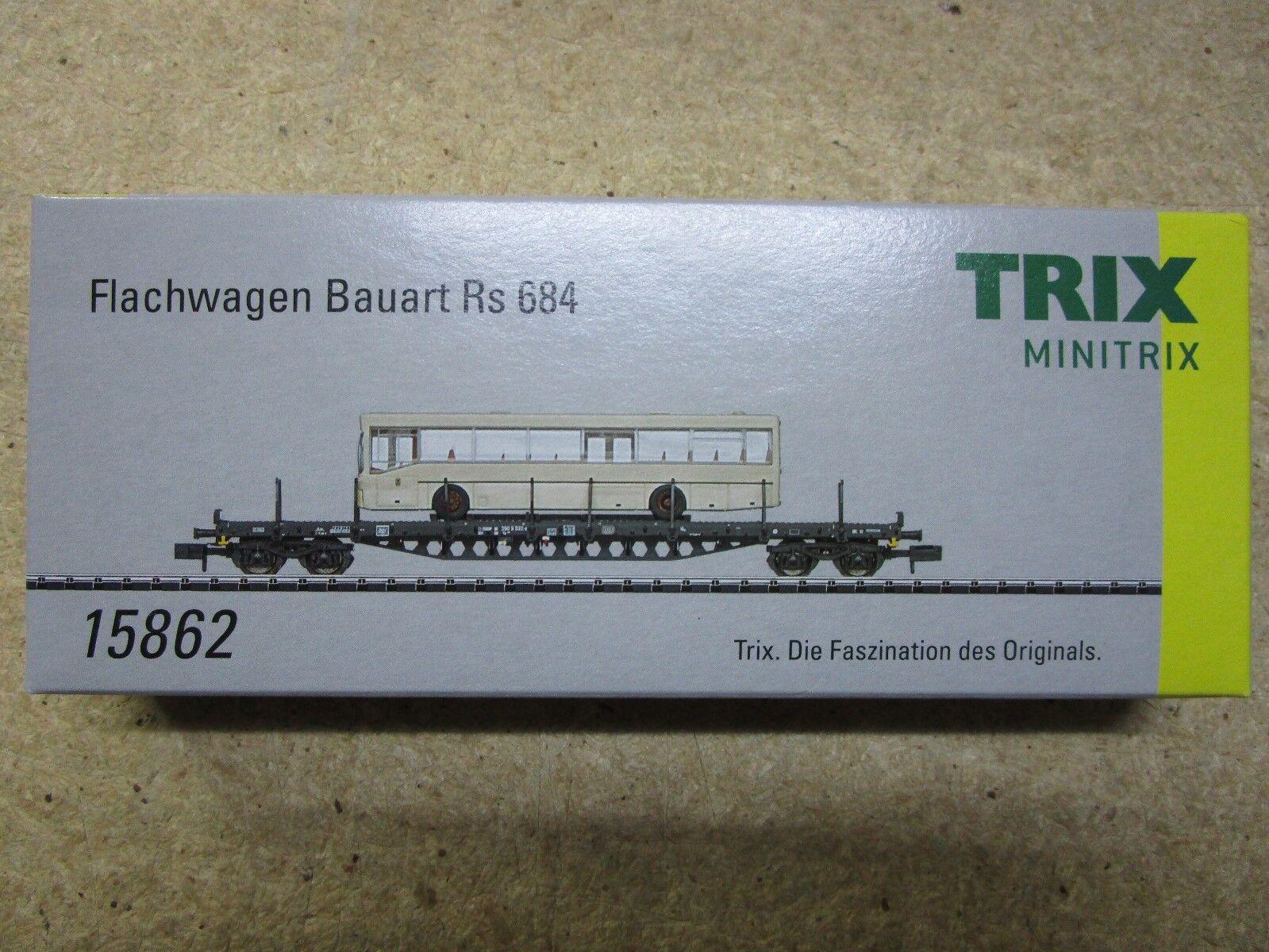 Trix N 15862 piatto auto tipo RS 684 della Deutsche Bundesbahn  DB  NUOVO OVP