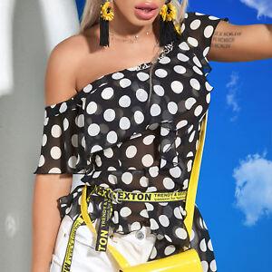 Chemise Damentop Bluse Par T longue Tunika shirt Alina Punkte Xs à pois m 8WW64aT
