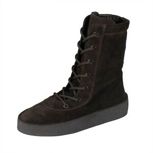 1527a0fb4ef NWT YEEZY Season 4  Oil  Thick Suede Lace-Up Crepe Boots 7 40  645 ...