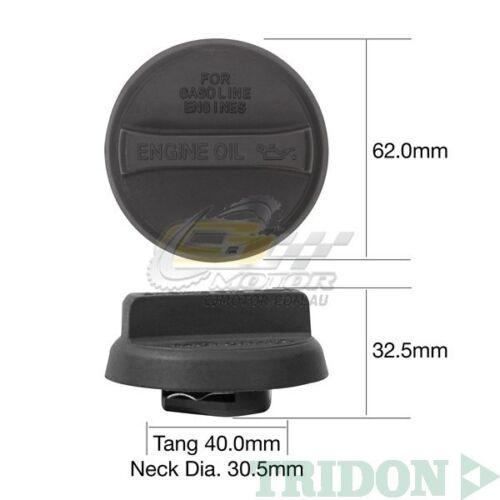 TRIDON OIL CAP FOR Lexus GS300 JZS160R 11//97-11//00 6 3.0L 2JZ-GE