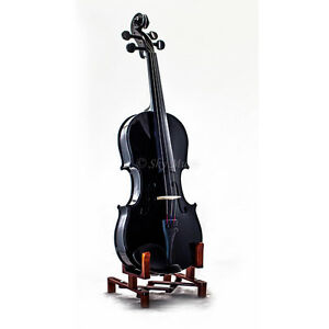 SKY New Black Student 4/4 Violin Kit w Two Brazilwood Bows!