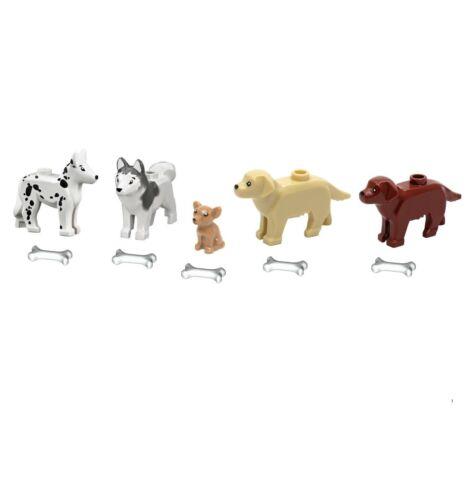 Details about  /NEW LEGO Animal Pets 5 Dogs Golden Retriever Shepherd Dalmatian Chihuahua