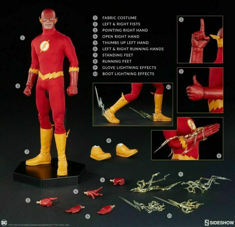 Sideshow Sideshow Sideshow 100237 1 6 el Flash Man Figure Set 12  avtion Macho DC Comics Juguete Regalo  ventas en linea
