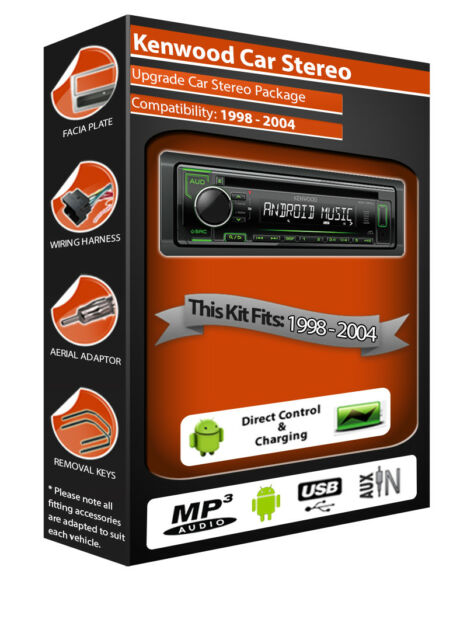 Ford Cougar Autoradio Stereo,Kenwood CD Mp3 Player con Anteriore USB Aux
