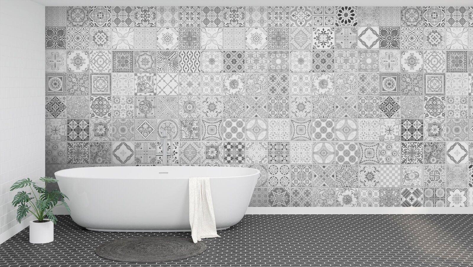 3D grey blueme Einfach 3 Textur Fliesen Marmor Tapeten Abziehbild Tapete Wandbild