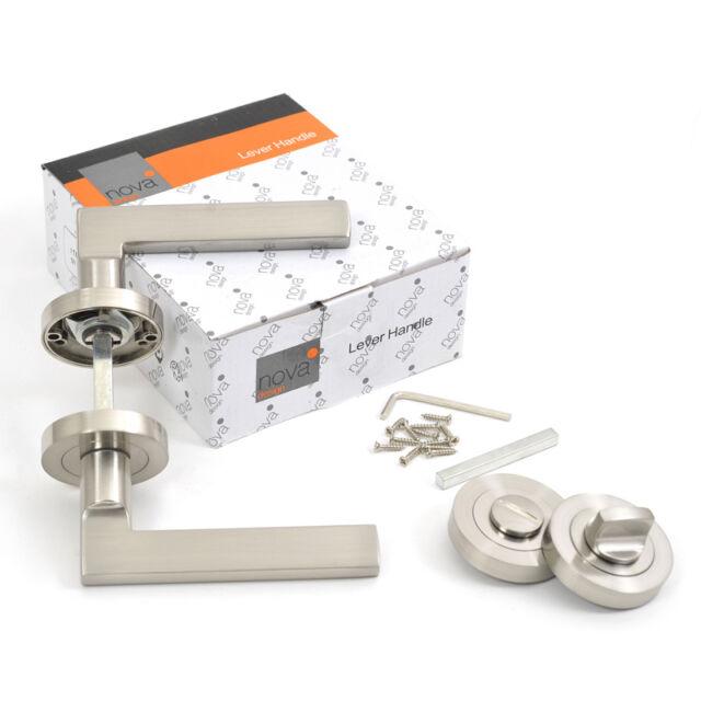 New Dummy Brushed Aluminum 118mm x 65mm Lever Handle Door Lock Lever