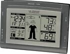 La Crosse Wireless Indoor Outdoor Thermometer Weather Forecast Humidity Atomic