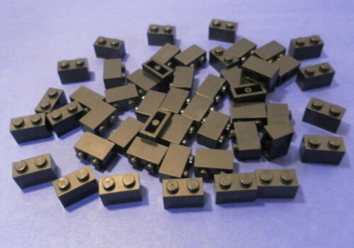 LEGO 50 x Basisstein 1x2 schwarz black basic brick 3004 300426