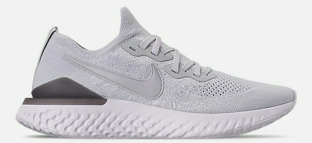 NIKE EPIC REACT FLYKNIT 2 MEN'S RUNNING PURE PLATINUM - WOLF GREY AUTHENTIC NEW