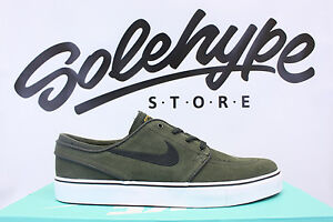 NIKE ZOOM STEFAN JANOSKI SEQUOIA GREEN BLACK METALLIC GOLD SB 333824 307 SZ 8