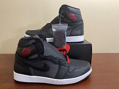 Nike Air Jordan 1 Retro High Og Black Satin Gym Red Men S Size 9 5