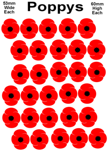 Details about  /poppy stickers choose your quantity lest we forget remembrance day diy fun for