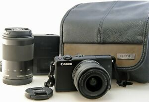 Canon-EOS-M100-Digital-Mirrorless-Twin-Lens-outfit-15-45-55-200mm-Gadget-Bag
