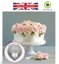 7 Piece Rose Petal Sugar Craft Set Fondant Cake Decorating Cutter Wedding