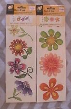 Rub-Ons Transfers For Wood Walls Paper & More - Spring Flower Brights 2 Packs!