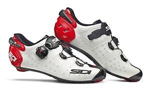 Chaussures-Sidi-Fil-2-Carbone-Blanc-Noir-Rouge-Size-46