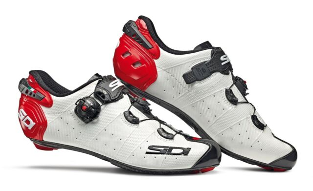 SHOES SIDI WIRE 2 CARBON WHITE NOIR RED Size 44