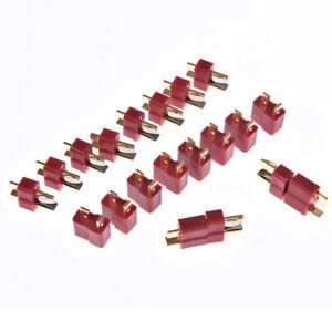 10-pares-20-un-T-Plug-Macho-Y-Hembra-decanos-Conectores-Estilo-para-RC-Lipo-Bateria-Fo