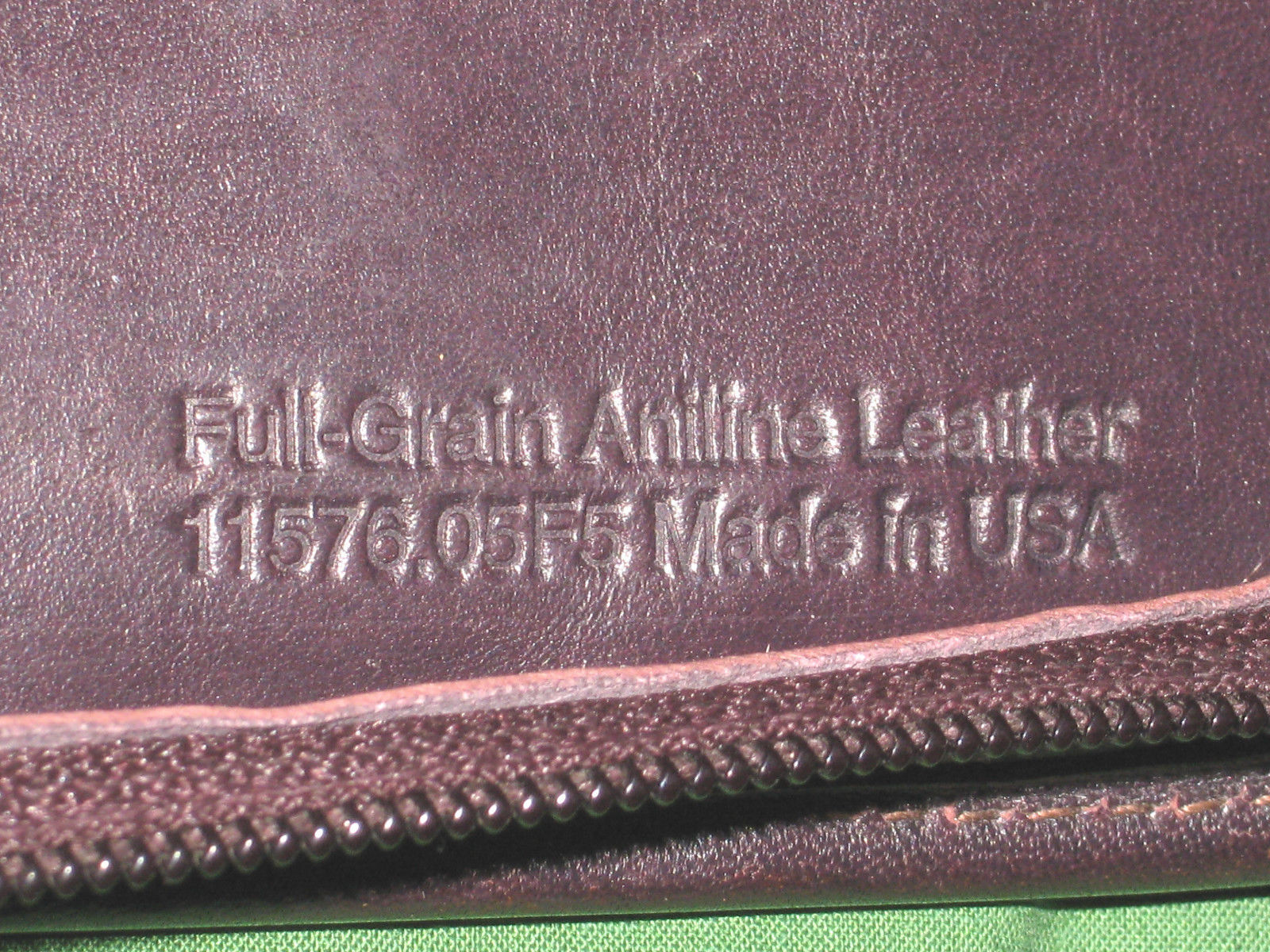 CLASSIC 1 5 Brown FULL GRAIN LEATHER Franklin Covey Covey