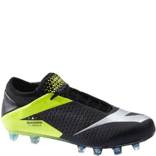 Diadora MW RB Blueshield Black//Neon Firm Ground Soccer Cleats SoccerGarage