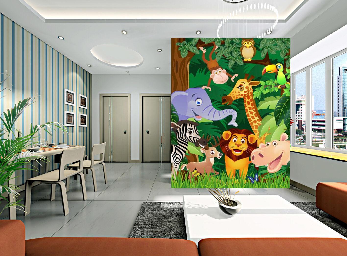 3D Cartoon animal 625 Wall Paper wall Print Decal Wall Deco Indoor wall Mural