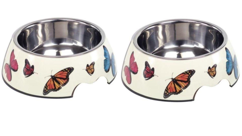 2 x Melaminnapf Schmetterling Hunde Katzen Futternapf und und und Wassernapf Freßnapf    Louis, ausführlich  38af21
