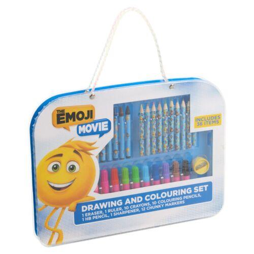 Disney Kids 37pc Art Set Travel Case Drawing Pencil Marker Crayon Coloring Ruler