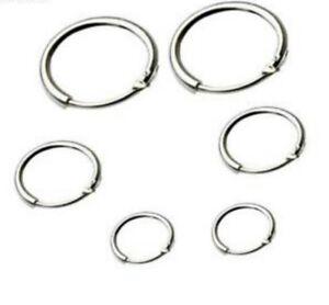 0d550d220 3 Pair Pack* Round Small Sleeper Hoops Earrings 8mm 10mm 12mm | eBay