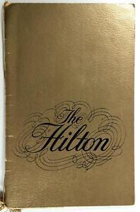 1971 Original Menu THE HILTON WEST INN Restaurant Akron Ohio
