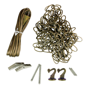 18' Swag Kit with 20' Cord for Hanging Light Fixtures, Antique Brass _357-15