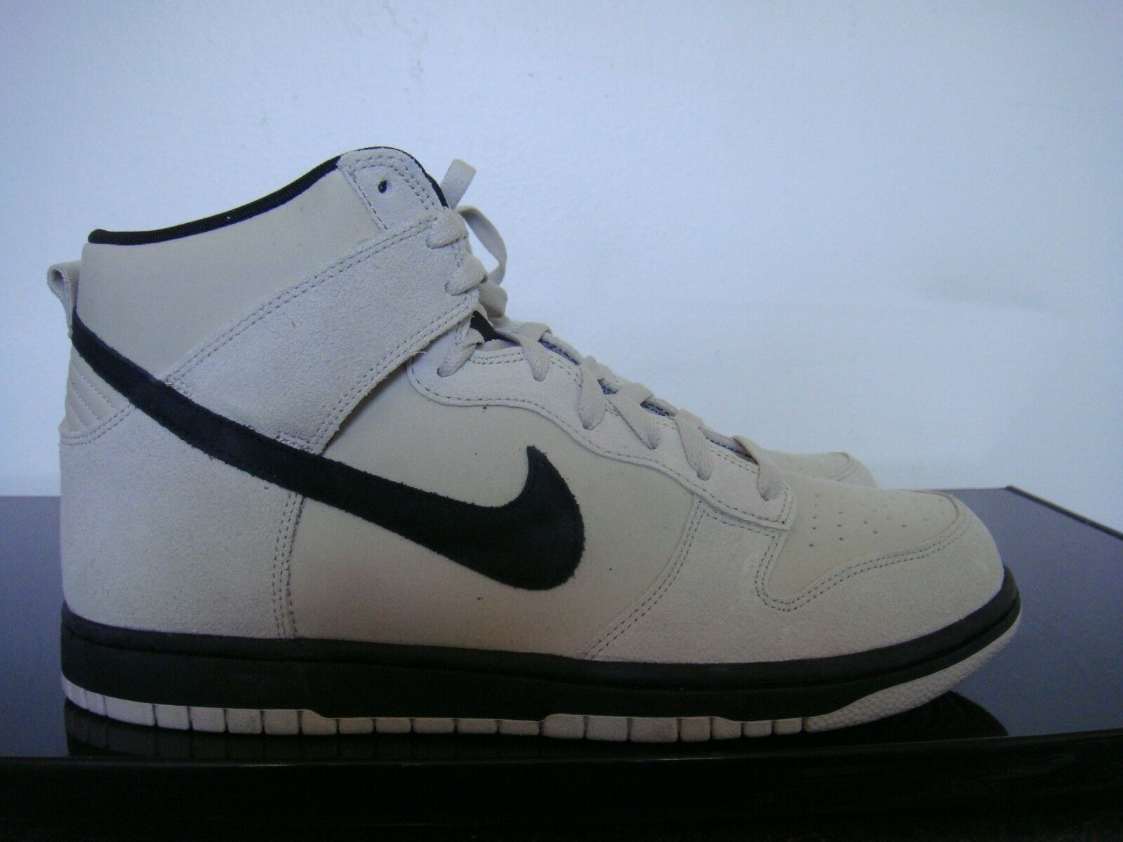 NIKE DUNK HI  MEN'S SHOES LIGHT BONE BLACK SIZE 10 904233-002