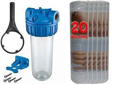 """Mettere In Guardia Kit Pré-filtration Adoucisseur D'eau + 4 Cartouches 20 Microns Bobinée- En 3/4"""" Sapore Fragrante (In)"""